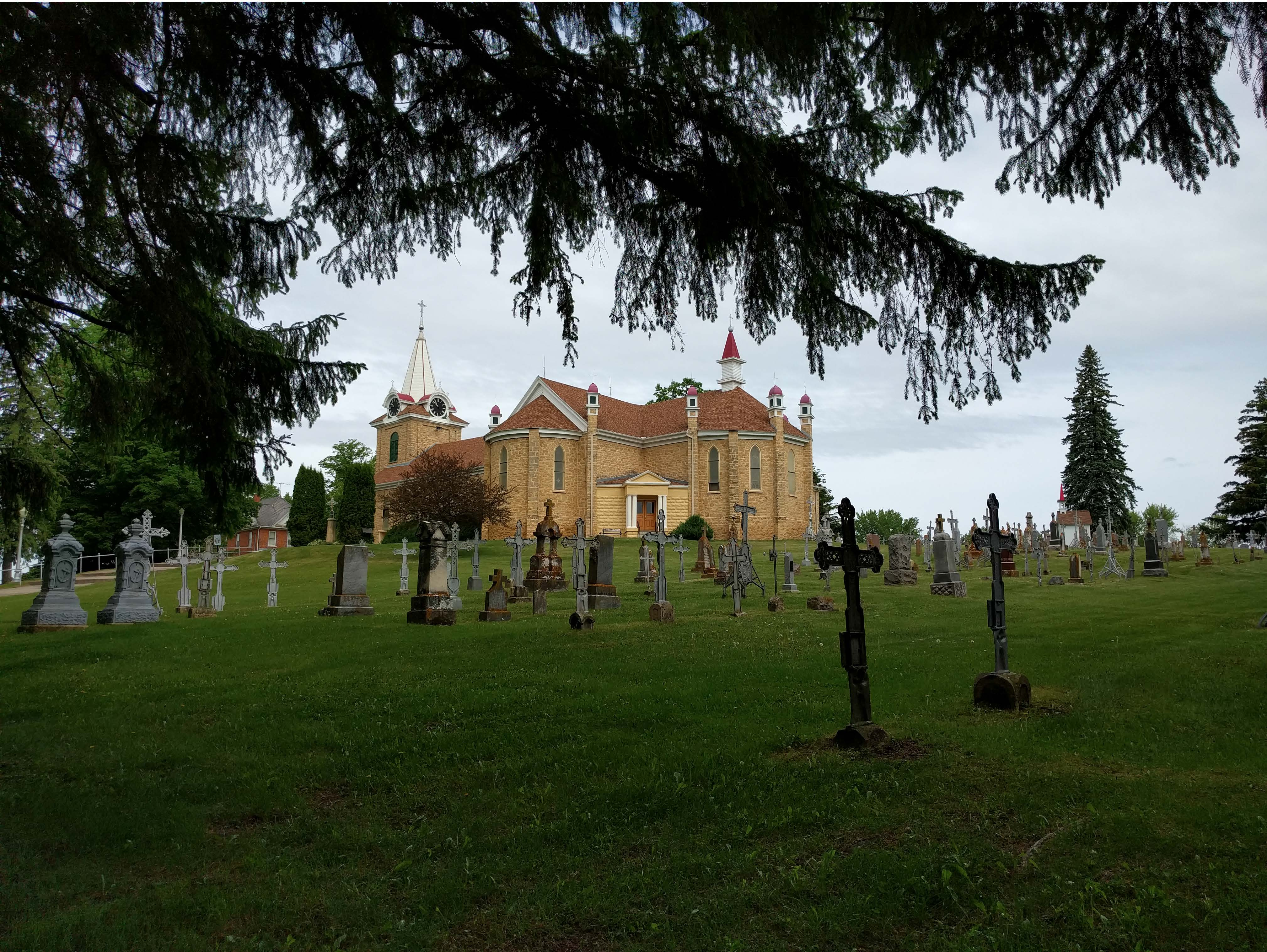 St. Wenceslaus Church & cemetery